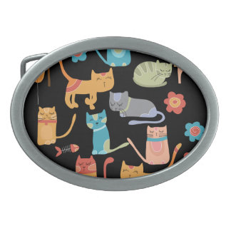 Cute Colorful Kitty Cats Gifts for Cat Lovers Belt Buckles