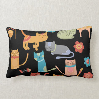 Cute Colorful Kitty Cats Gifts for Cat Lovers Throw Pillow