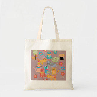 Cute Colorful Kitty Cats Gifts for Cat Lovers Pink Bag
