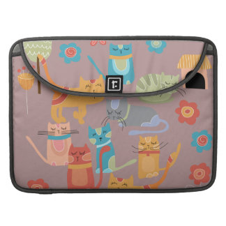Cute Colorful Kitty Cats Gifts for Cat Lovers Pink Sleeve For MacBook Pro