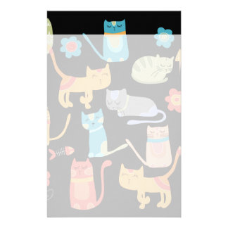 Cute Colorful Kitty Cats Gifts for Cat Lovers Stationery