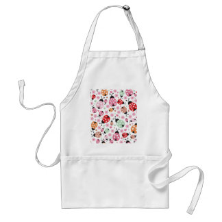 Cute,colorful,lady-bird,floral,girly,for kids,fun adult apron