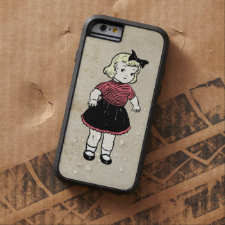 Cute Colorful Little Doll Antique Stained Artwork Tough Xtreme iPhone 6 Case