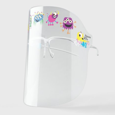 Cute Colorful Monsters Face Shield