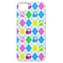 Cute Colorful Owl Argyle iPhone SE/5/5s Case