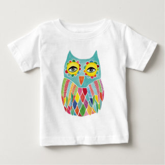 Cute Colorful Owl Baby T-Shirt