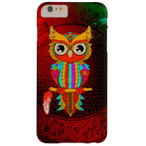Cute colorful  owl barely there iPhone 6 plus case