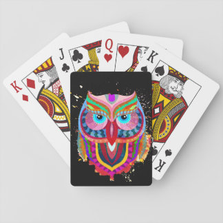 Cute Colorful Owl Cards, Standard Index faces Deck Of Cards