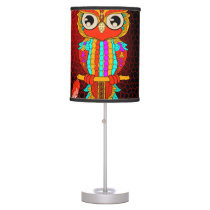 Cute colorful  owl desk lamp