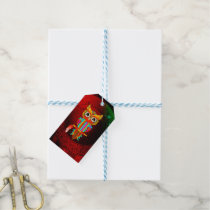 Cute colorful  owl gift tags