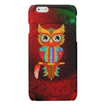 Cute colorful  owl glossy iPhone 6 case
