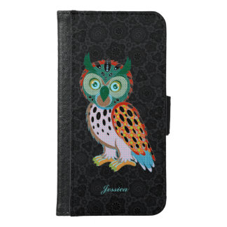 Cute Colorful Owl Illustration Wallet Phone Case For Samsung Galaxy S6
