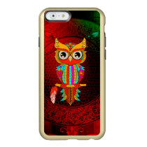 Cute colorful  owl incipio feather shine iPhone 6 case