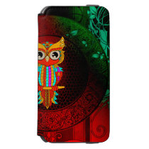 Cute colorful  owl iPhone 6/6s wallet case
