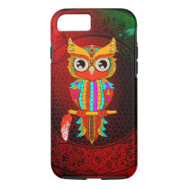 Cute colorful  owl iPhone 7 case