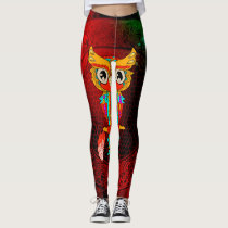 Cute colorful  owl leggings