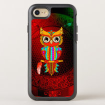 Cute colorful  owl OtterBox symmetry iPhone 7 case
