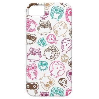 Cute colorful owl pattern in pink and blue iPhone 5 cases