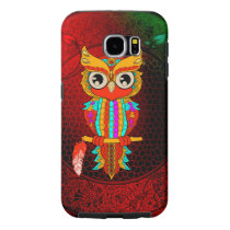 Cute colorful  owl samsung galaxy s6 case