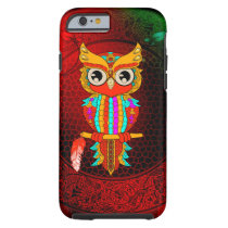 Cute colorful  owl tough iPhone 6 case