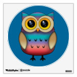 Cute Colorful Owl Wall Decal
