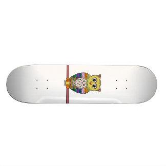 Cute Colorful Owl - white Skate Boards