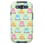 Cute Colorful Owls Android Phone Case Light Green Galaxy S3 Covers