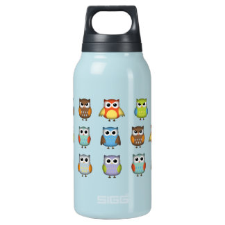 Cute Colorful Owls Insulated Water Bottle