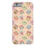 Cute Colorful Owls iPhone 6 case (pale apricot)