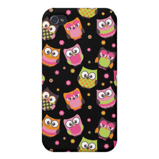 Cute Colorful Owls iPhone Case