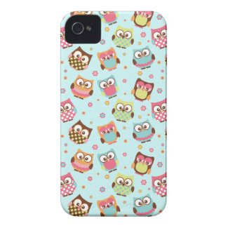Cute Colorful Owls iPhone Case (light blue) casematecase