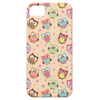 Cute Colorful Owls iPhone Case (pale apricot)