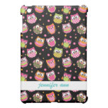 Cute Colorful Owls on Black Case For The iPad Mini