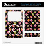 Cute Colorful Owls on Black iPod Decal