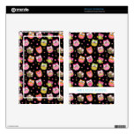 Cute Colorful Owls on Black Kindle Fire Decals