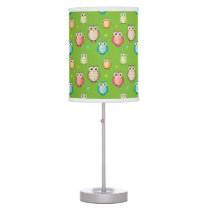 Cute Colorful Owls Pattern Desk Lamp