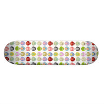 Cute Colorful Owls Pattern Skateboard Deck