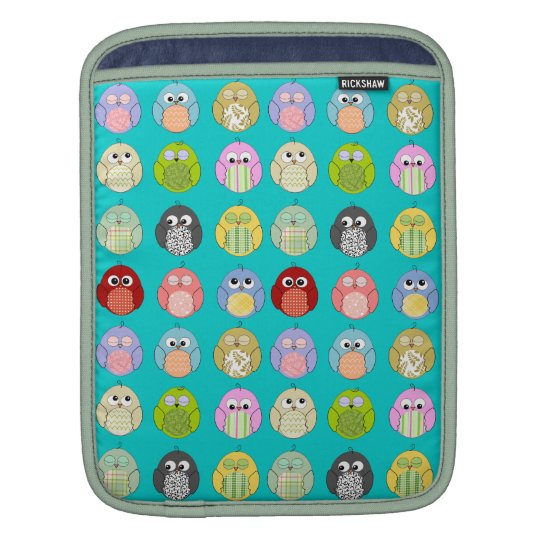Cute Colorful Owls Pattern Sleeve For iPads