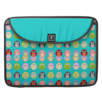 Cute Colorful Owls Pattern Sleeve For MacBook Pro