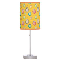 Cute Colorful Owls Pattern Table Lamp