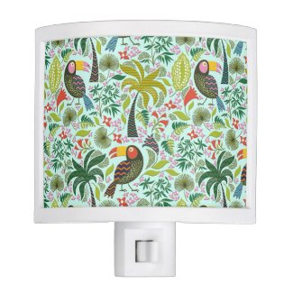 Cute Colorful Parrot And Palm Tree Nite Light