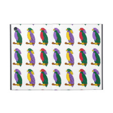 Cute Colorful Parrots Covers For iPad Mini at Zazzle