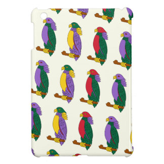 Cute Colorful Parrots iPad Mini Covers