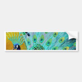 Cute Colorful Peacock Bumper Sticker
