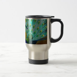 Cute Colorful Peacock Travel Mug