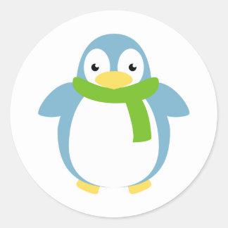 Cute Colorful Penguin in Scarf Sticker
