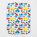 Cute Colorful Planes, Trains and Cars Collage Burp Cloths