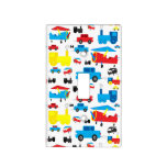 Cute Colorful Planes, Trains, and Cars Pattern Switch Plate Cover