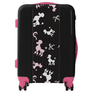 Cute Colorful Poodles Luggage