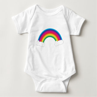 Cute Colorful Rainbow and Clouds Baby Bodysuit